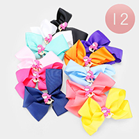 12PCS - Colorful Mermaid Decorated Bow Hair Clips