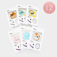 12PCS - Assorted Animal Faces Phone Cell Phone Ring Holders