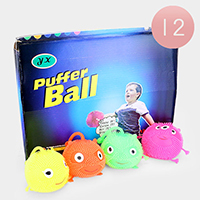 12PCS - Cute Assorted Puffer Ball Toys