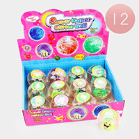 12PCS - Assorted Design Super Duper Glitter Balls
