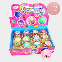 12PCS - Assorted Animal Designs Super Duper Glitter Balls