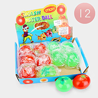 12PCS - Assorted Fruit Smash Water Ball Toys