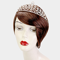 Crystal Rhinestone Pave Pageant Queen Tiara
