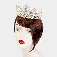 Oval Crystal Accented Pageant Queen Tiara Crown