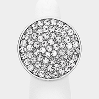 Crystal Embellished Round Stretchable Ring