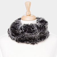 Multi Collar Faux Fur Scarf / Headband