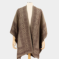 Tribal Pattern Cape Poncho