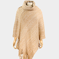 Brushed Knit Poncho