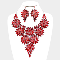 Floral Bling Evening Crystal Necklace
