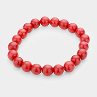 Natural Stone Bead Stretch Bracelets