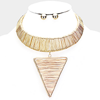 Wire Wraparound Metal Choker Necklace