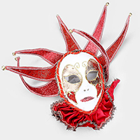 Bell Crown Halloween Venetian Masquerade Full Mask