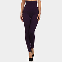 High Waist  French Terry Lining Compression Leggings