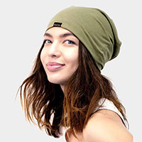 Solid Satin Lined Beanie Hat