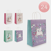 24PCS - Assorted Unicorn Party Gift Bags