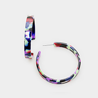 Celluloid Acetate Hoop Earrings