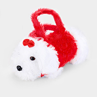Furry Fluffy Mini Puppy Doll Crossbody Bag
