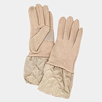 Solid Quilted Tris Smart Touch Gloves