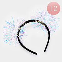 12PCS -  Transparent Hologram Detailed Headbands
