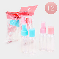 12 SETS OF 2 - Spray and Lotion Travel Size Kit