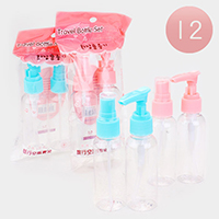12 SETS OF 2 - Spray and Soap Dispenser Travel Size Kit