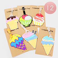 12PCS - Cute Ice cream Luggage Tags