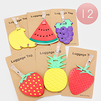 12PCS - Cute Fruit Luggage Tags
