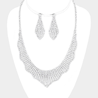 Marquise Pave Crystal Rhinestone Necklace