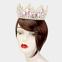 Crystal Rhinestone Pave Pageant Queen Crown Tiara
