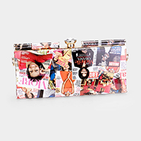 Michelle Obama  Crystal  clutch bag with detachable strap