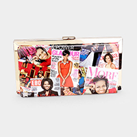 Michelle Obama clutch bag with detachable strap