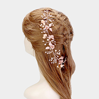Floral Leaf Cluster Bun Wrap Headpiece
