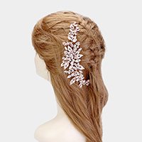 Crystal Leaf Cluster Bun Wrap Headpiece