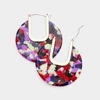 Cut Out Celluloid Acetate Pin Catch Earrings