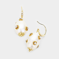 Stone Accented Pearl Rich Earring