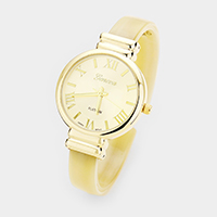 Round Dial Celluloid Acetate Cuff Watch