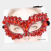 Teardrop Crystal Custer Rhinestone Cat Eyes Marquise Mask