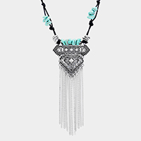 Boho Tassel Metal Pendant Necklace