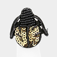 Sequin Lady Bug Stretchable Ring