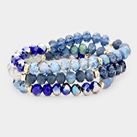 3 PCS - Multi Beaded Stackable Stretch Bracelets