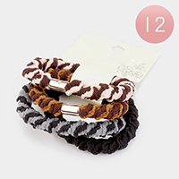 12 Set of 4 - Two Tone Ponytail Hair Bands