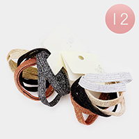 12 Set of 8 - Shimmery Ponytail Hair Bands