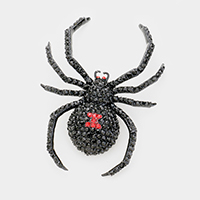Crystal Embellished Spider Brooch