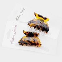 2 PCS Tortoise Butterfly Hair Claw Clip