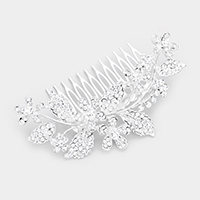 Crystal  Flower Leaf Vine Hair Comb
