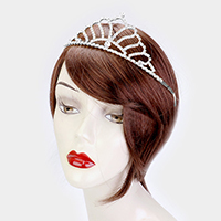 Crystal Rhinestone Pave Queen Tiara