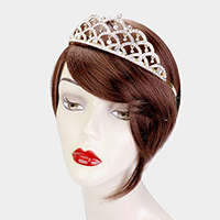 Crystal Rhinestone Pave Scales pattern Crown Tiara
