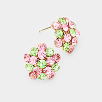 Floral Genuine Austrian Crystal Earrings