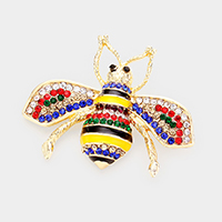 Crystal Embellished Honey Bee brooch