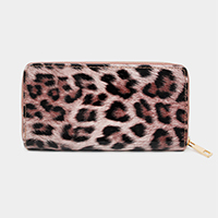 Leopard Print Zipper Wallet